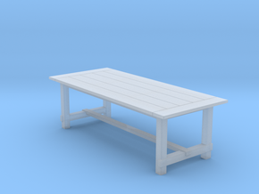 8' Rustic Farm Table 1:48 in Smooth Fine Detail Plastic