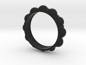 Bubble Ring in Black Natural Versatile Plastic