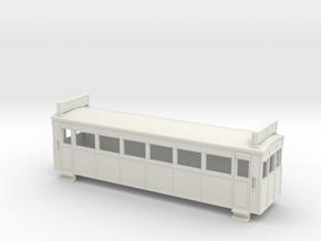 009 Drewry bogie railcar with roof radiators in White Natural Versatile Plastic