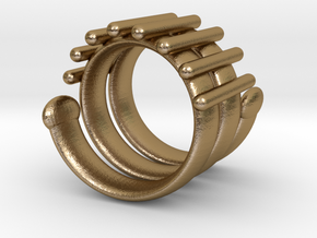 Snake Ring in Polished Gold Steel