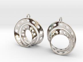 Fantasy-6-EarRings in Rhodium Plated Brass