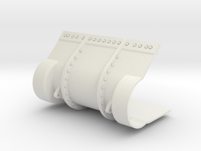 1/16 M4 Sherman 3 piece transmission cover.  in White Natural Versatile Plastic