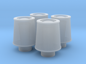 1/16 K&N Cone Style Air Filters TDR 1047 in Smooth Fine Detail Plastic