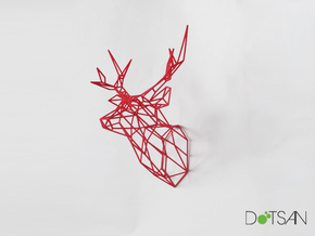 Stag Medium Looking Ahead in Red Processed Versatile Plastic