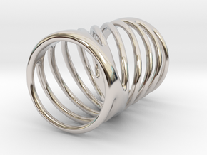 Ring of Rings No.7 in Rhodium Plated Brass