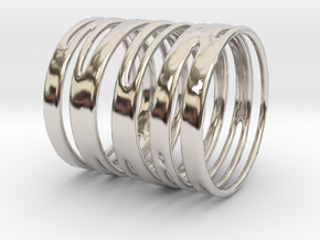 Ring of Rings No.9 in Rhodium Plated