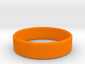 0215 Lissajous Figure Ring (Size7.5, 17.7mm) #020 in Orange Processed Versatile Plastic