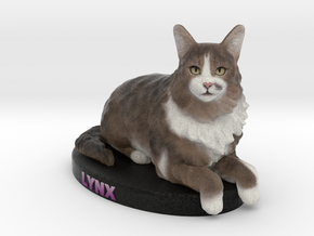 Custom Cat Figurine - Lynx in Full Color Sandstone