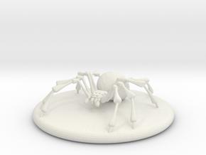 Large Spider in White Natural Versatile Plastic