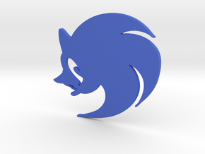 3D Sonic the Hedgehog Logo in Blue Strong & Flexible Polished