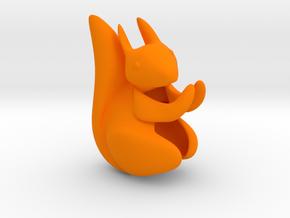 Ear Squirrel - ear cuff (right) in Orange Strong & Flexible Polished