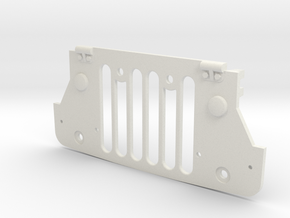 Tamiya Wild Willy M38 Grill panel in White Natural Versatile Plastic