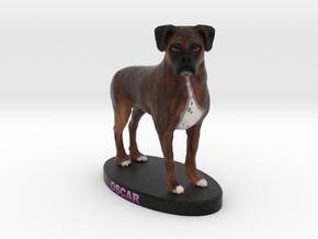 Custom Dog Figurine - Oscar in Full Color Sandstone