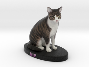 Custom Cat Figurine - Nip in Full Color Sandstone