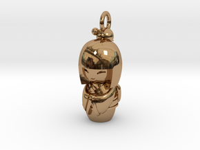 Japanese Doll in Polished Brass