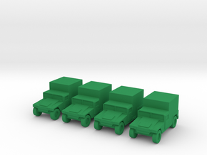 1/200 Humvee M1037 set of 4 in Green Strong & Flexible Polished