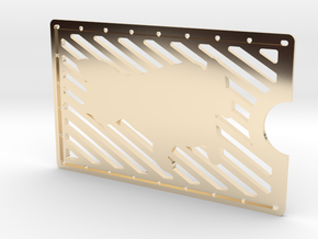 Card Wallet - Cat in 14K Yellow Gold