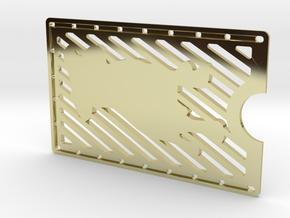 Card Wallet - Dog in 18k Gold Plated Brass