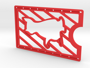 CardWallet Cat Right in Red Strong & Flexible Polished