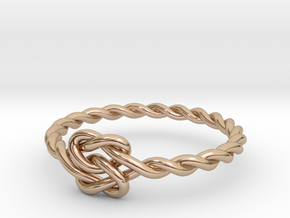 True Lover's Knot Ring - Size 6 1/2 in 14k Rose Gold