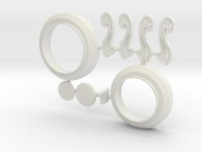 MPDA Iris-plugs & Connectors etc (Size 2) in White Natural Versatile Plastic