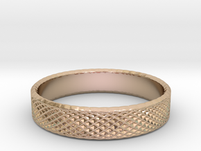 0220 Lissajous Figure Ring (Size12, 21.3 mm) #025 in 14k Rose Gold Plated Brass