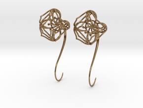 Plugs / gauges / size 10 g (2.5mm) in Natural Brass