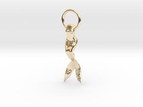 Mermaid Earring/Pendant in 14k Gold Plated Brass