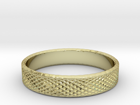 0222 Lissajous Figure Ring (Size13, 22.2 mm) #027 in 18k Gold Plated Brass