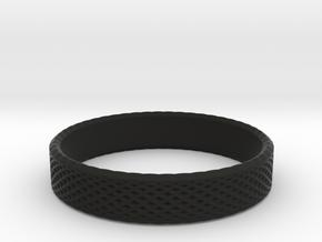 0222 Lissajous Figure Ring (Size13, 22.2 mm) #027 in Black Natural Versatile Plastic