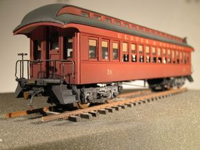Wood Passenger Truck S Scale 1/64  in Smooth Fine Detail Plastic