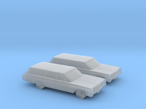1/160 2X 1967 Chrysler Town and Country in Smooth Fine Detail Plastic