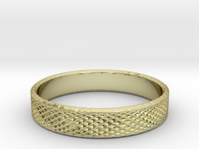0224 Lissajous Figure Ring (Size14, 23.0 mm) #029 in 18k Gold