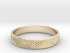 0226 Lissajous Figure Ring (Size15, 23.8 mm) #031 in 14k Gold Plated Brass