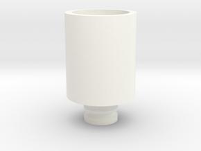 Drip Tip W/Mesh in White Processed Versatile Plastic