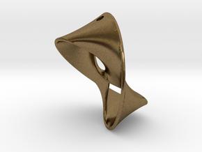 Trefoil Knot Earring in Natural Bronze