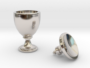 15th Century Oil Vase (5 inches tall) in Platinum