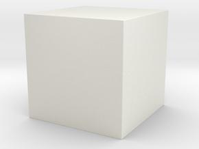 50x50 Solid Cube in White Natural Versatile Plastic
