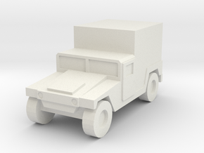 1/144 12mm scale Humvee M1037 shelter HMMWV Hummer in White Natural Versatile Plastic