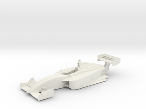 Dallara IPS Indy Lights Chassis in White Natural Versatile Plastic