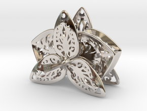 Orchid Filigree Earrings in Platinum
