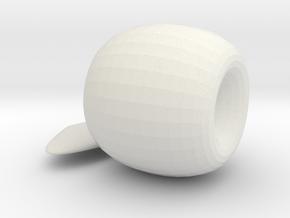 Apple Ornament in White Natural Versatile Plastic