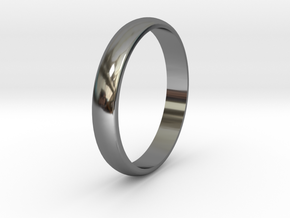 Ring Size 6 smooth in Fine Detail Polished Silver