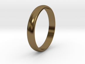 Ring Size 6 smooth in Polished Bronze