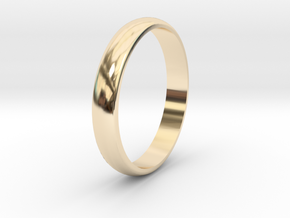 Ring Size 6 smooth in 14k Gold Plated Brass