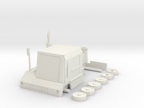 Yard tractor 1/87 in White Natural Versatile Plastic