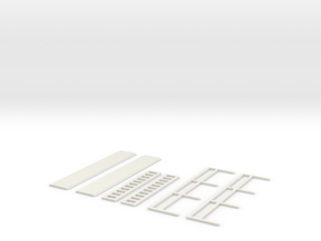 Assorted Ladders Walkways And Handrails 1/87 scale in White Natural Versatile Plastic
