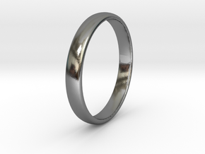 Ring Size 4 1I2 smooth in Polished Silver