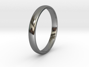 Ring Size 5 smooth in Fine Detail Polished Silver