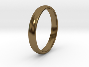 Ring Size 6 1I2 smooth in Polished Bronze